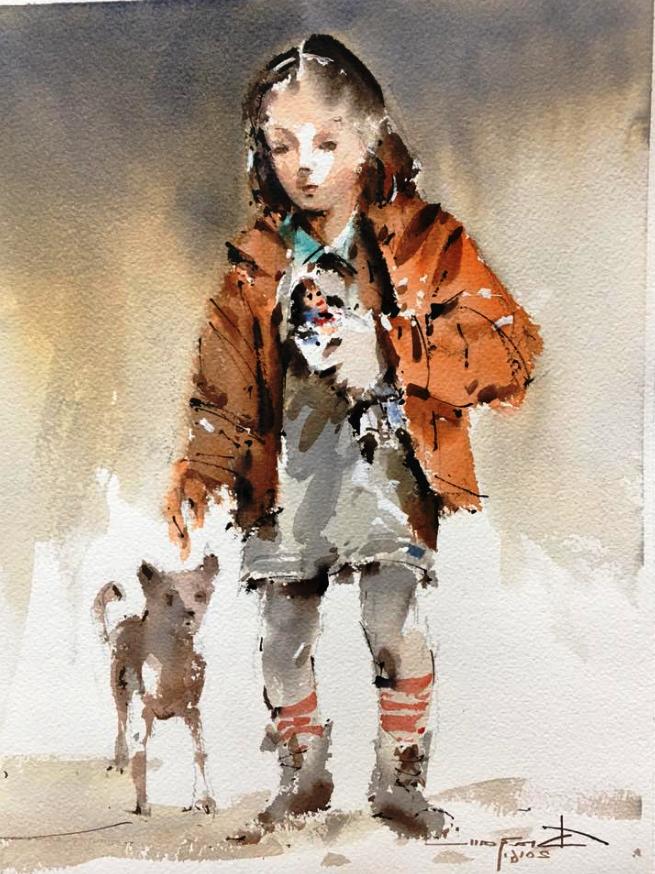 """""""Девочка с куклой и собакой"""""""