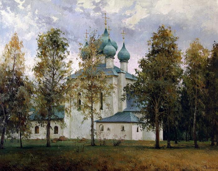 Всё ближе осень к Покрову... Художник Сергей Перидериев