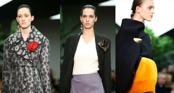Модные броши Celine осень-зима 2014-2015
