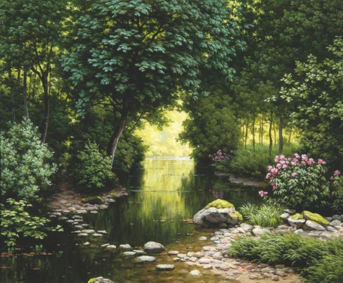 пейзажи художник Charles Edmond Rene-His - 10