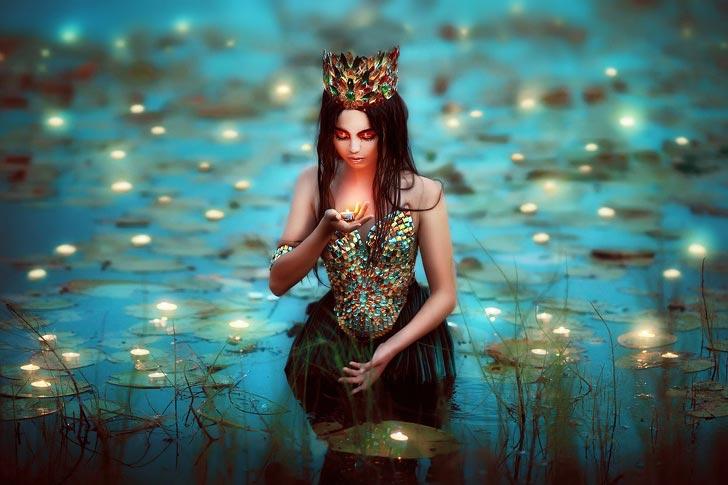российский фотограф заставляет по-новому взглянуть на принцесс из русских сказок,  Мария Липина