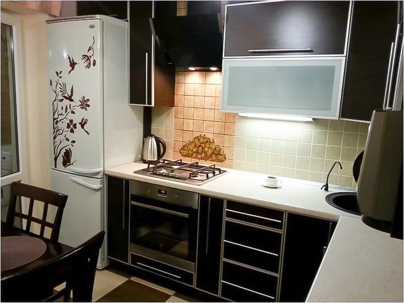 дизайн современной угловой кухни 8 кв м фото