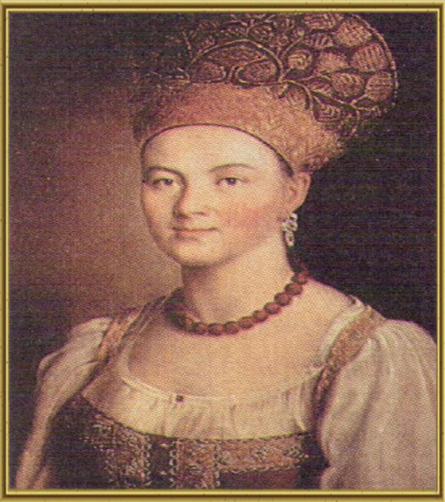 Портрет неизвестной в русском костюме