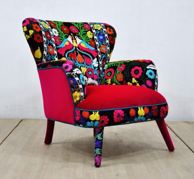 Красочный цветастый флок для обивки мебели