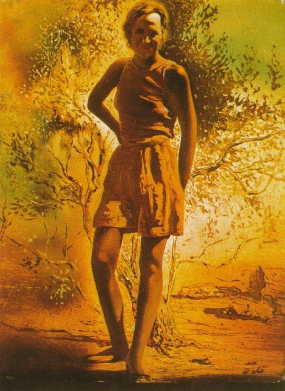 Сальвадор Дали.  Портрет Галы, 1933