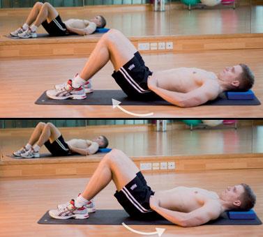 Подкручивания мышц таза