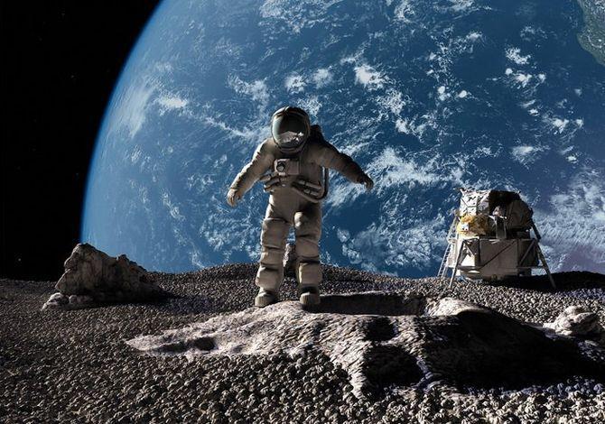 Интересные факты о звездах,  Температура на Луне, Луна и космонавт