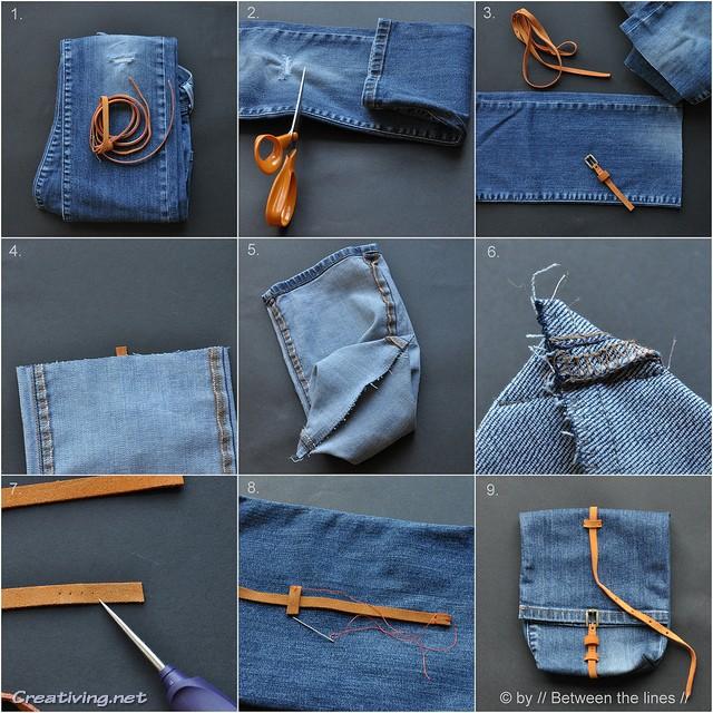 Сумки из джинсов. Переделки старых джинсов своими руками_creativing.net