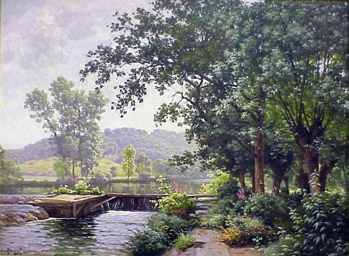 пейзажи художник Charles Edmond Rene-His - 12