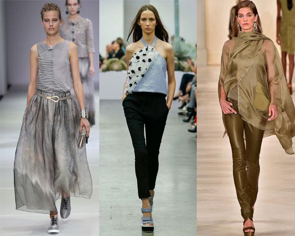 Асимметрия – модная тенденция блузок весна-лето 2015