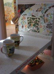 Интересные идеи применения битой кафельной плитки