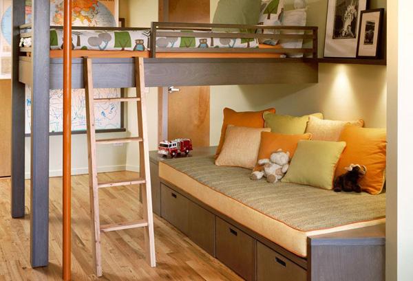 Детская комната с кроватью-шкафом