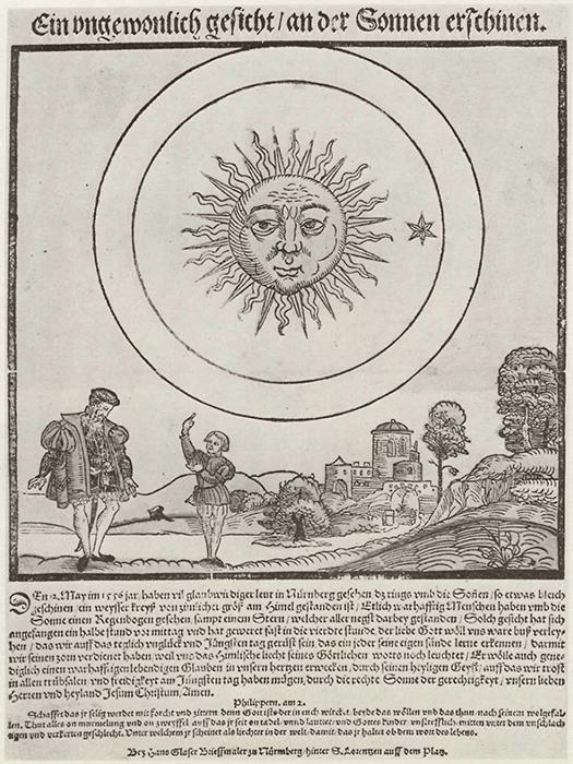 Солнечный ореол, изображённый Хансом Глейзером.