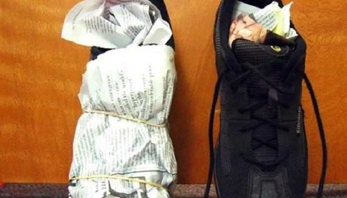 Набиваем обувь старыми газетами, чтобы не потерять форму. / Фото: pinterest.ru