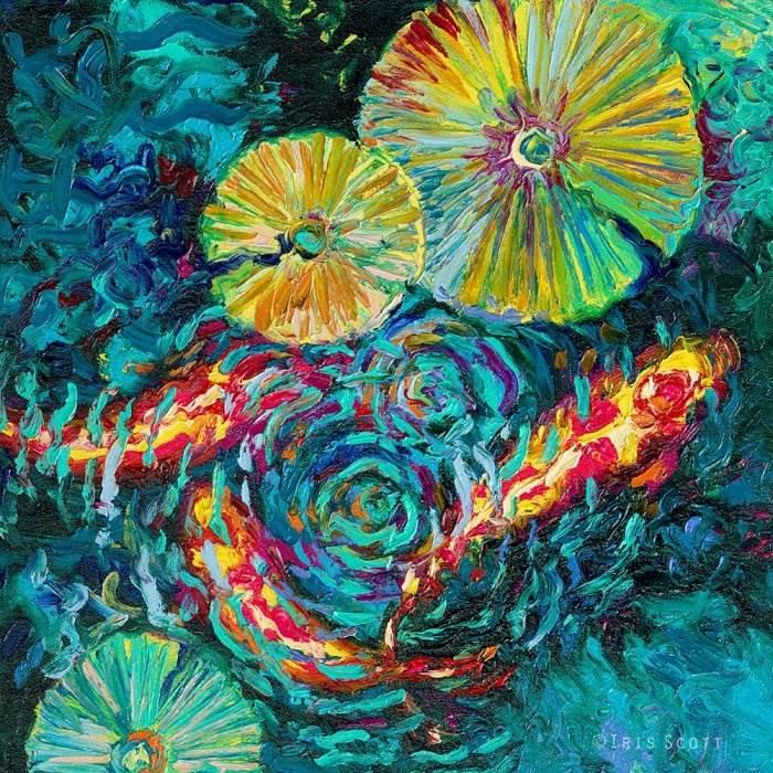 Пруд с волшебными рыбками. Автор: Iris Scott.