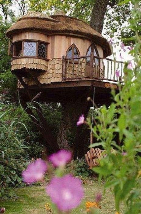И для детей создают волшебные дома на деревьях.