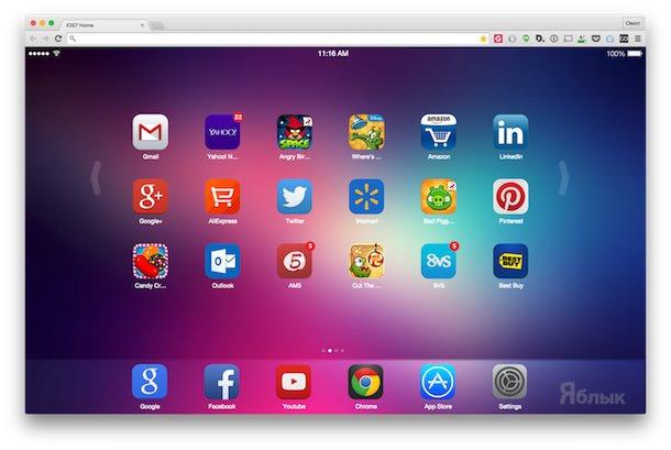 iOS 7 New Tab Расширения для Google Chrome