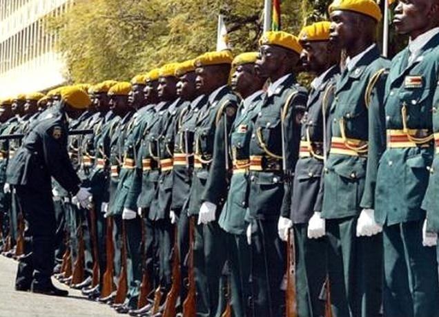 Zimbabwe Estilo, exército, guerra, mundo, forma, roupas, forma