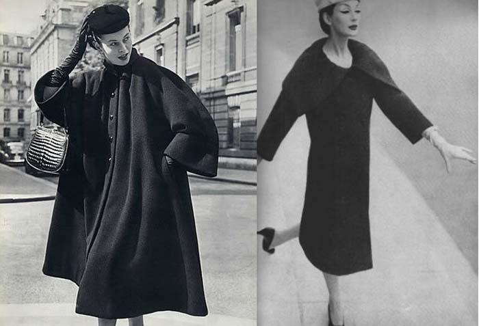 Пальто и платье от Баленсиаги.
