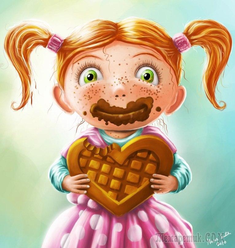 Смешной сладкоежка картинки, для детей жизнь