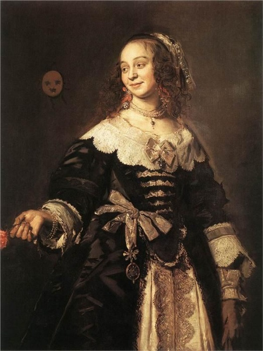 Портрет женщины в платье эпохи барокко от Франса Хальса.