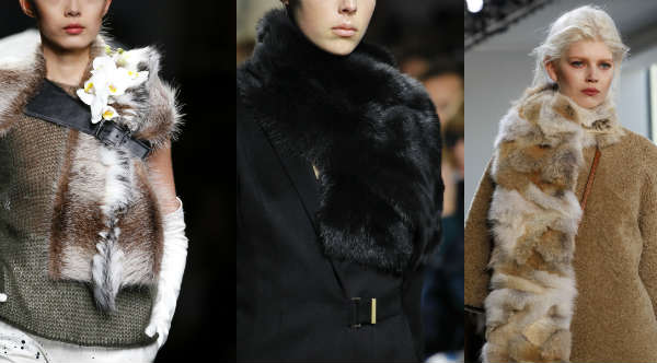Модные меховые шарфа осень-зима 2014-2015