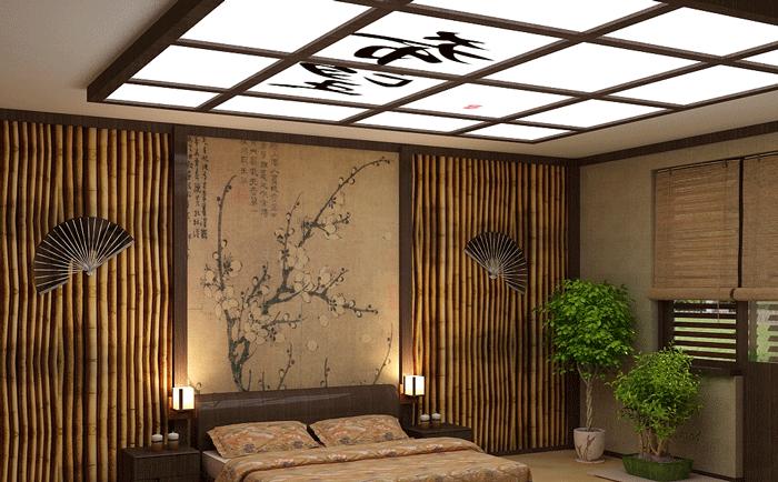 Свет в японском стиле интерьера