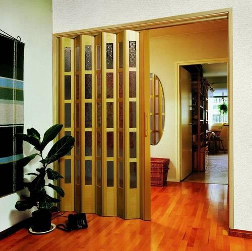 Двери-гармошка для прихожей фото