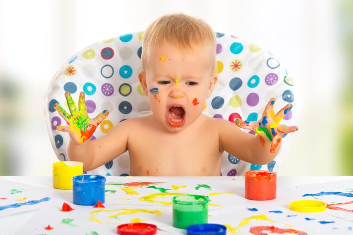 Какой ребенок не мечтает рисовать руками? /Фото: greggestbloggest.com