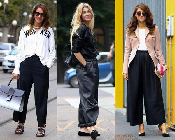 Уличная мода весна-лето 2015: Широкие брюки