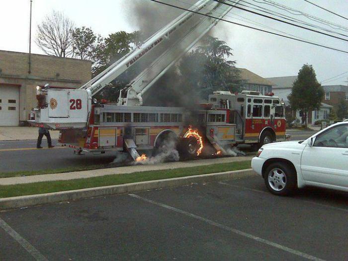 Казус с пожарной машиной.