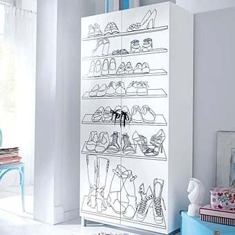 стильный шкаф для обуви