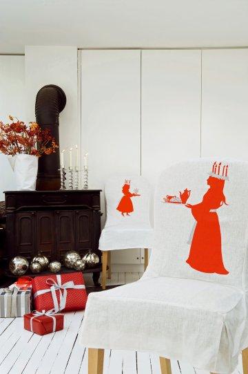 Обложка стулья с белыми девушками белье носить красные и белые свечи на голове трафарету