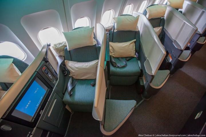 Впечатления от полета бизнес-классом  самолет, фоторепортаж, бизнес класс