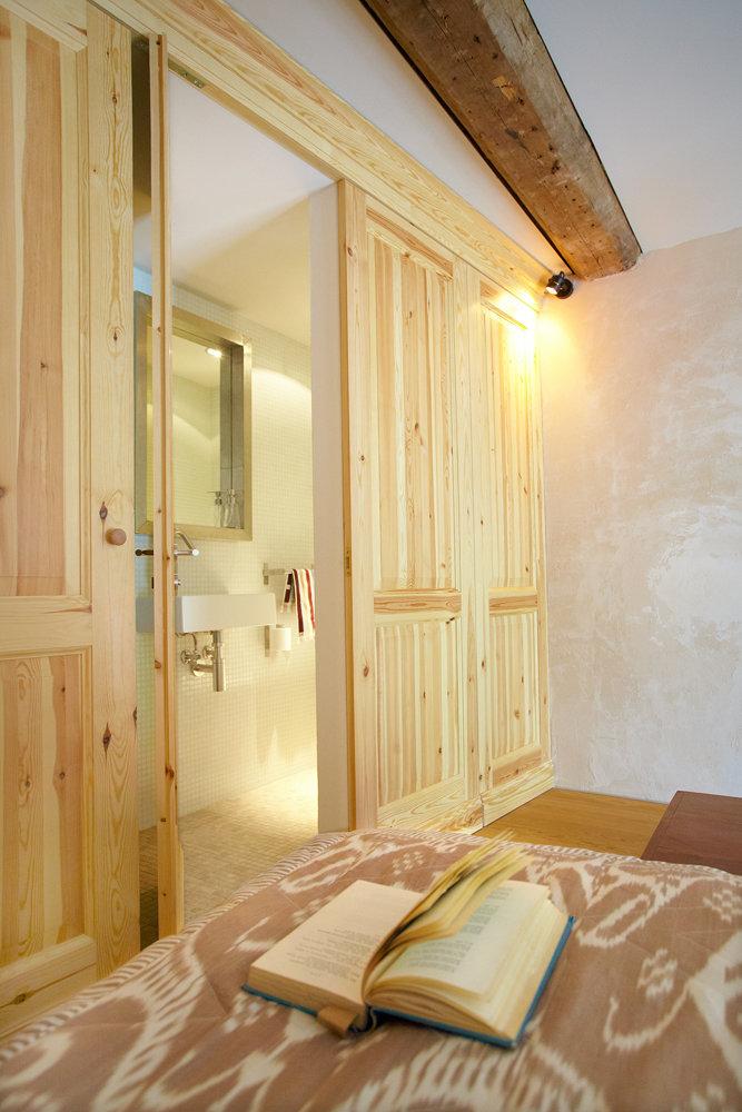 Фотография: Спальня в стиле Кантри, Скандинавский, Малогабаритная квартира, Квартира, Дома и квартиры, Проект недели – фото на InMyRoom.ru