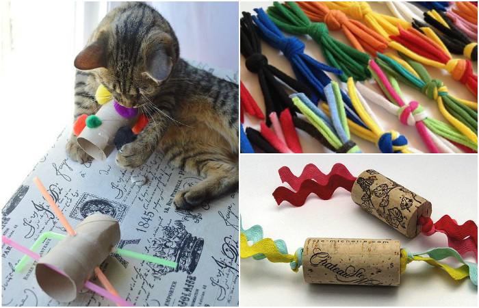 13 лучших игрушек для котов, которые можно быстро сделать своими руками