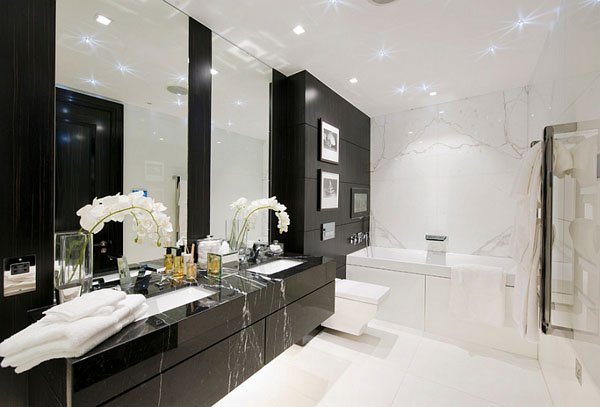 Чёрно-белая ванна от CID Interior