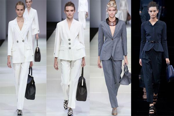 Модные офисные брючные костюмы весна-лето 2015