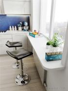 Практичные идеи: стол, объединенный с подоконником
