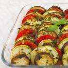 Рататуй: запеченные овощи в духовке (кабачки, баклажаны, помидоры)