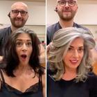 Вместо закрашивания седины, парикмахер показал женщинам, что быть красивой можно и с ней