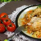 Рецепт - объедение! Курица с капустой в специальном маринаде запеченная в рукаве