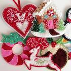 Новогодние украшения из фетра своими руками