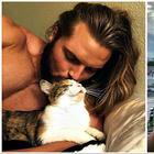 30 умилительных фотографий мужчин и кошек