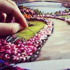 Потрясающие вышитые картины из лент