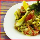 Салат из баклажанов - минимум ингредиентов, легко готовится, съедается быстро!