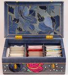 """Мастер-класс """"Джинсовый чемодан для рукоделия в технике кинусайга"""""""