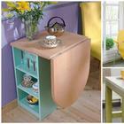Стильные столы, которые эффективно оптимизируют пространство маленькой кухни