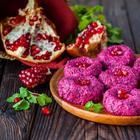 Рецепт пхали по-грузински - Вкусная закуска из свеклы с грецким орехом и гранатом