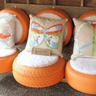 Идеи для дачи из старых шин